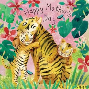 FIZ94 - Card For Mothers Day Tigers